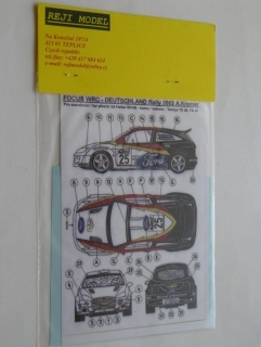 Decal 1/43 Reji Model - Ford Focus WRC - Rally Deutschland 02/ A. Kremer